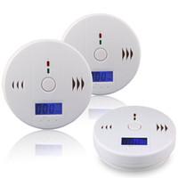 carbon monoxide alarm al por mayor-Sensor de Gas de Monóxido de Carbono CO Monitor Alarma Poisining Detector Probador Para Vigilancia de Seguridad Para El Hogar Nueva Llegada