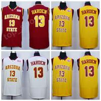 13 camiseta de baloncesto roja al por mayor-Cheap 13 James Harden College Jerseys Arizona State Sun Devils Jersey Hombres Equipo de baloncesto Rojo Lejos Amarillo Blanco Deporte Envío gratis