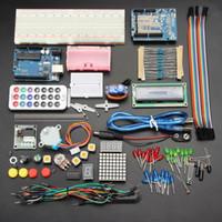 baterias r3 venda por atacado-UNO R3 Básico Starter Aprendizagem Kit Sem Bateria Versão Para ArduinoHot venda Iduino Due Pro starter kit uno r3 produtos de rede