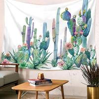 ingrosso mulino a vento di pasqua-Tapestry photography background Cactus Tapestry Wall Decor Hanging Wall Arazzi Tappeto Coperta da spiaggia Decorazione Tovaglia