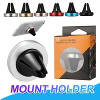 Wholesale magnets iphone resale online - Car Mount Air Vent Magnetic Universal Mobile Phone Holder For iPhone X Samsung S8 Mounting Reinforced Magnet Car holder With Retail Package