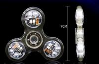 anti-stress-spielzeuge großhandel-Led Licht Zappeln Spinner bunten Kunststoff EDC Kristall leuchtend für Autismus ADHS AntiStress Spielzeug Relief Fingerspinner