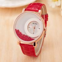 bola de reloj de cuarzo al por mayor-Lady Flow Sand Ball reloj de cuarzo femenina nueva explosión de moda cinturones relojes Mxre reloj de pulsera de adorno de agua 12 colores