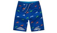 ingrosso applique da spiaggia-Pantaloncini moda uomo Summer Blue Beach Homme Bermuda Pantaloni corti Quick Dry Silver Pantaloncini taglia L-4XL