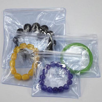 Wholesale jewelry ziplock resale online - Clear Plastic jewelry storage bag Thick transparent package pvc bag with zipper Resealable Ziplock jewelry packing bag