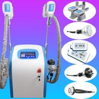Wholesale lipo laser system - Professional Dual cryo handles Freeze Fat system lipo laser slimming 650nm diode laser cavitation rf slimming machine