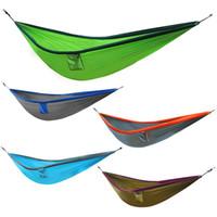 парашютная нейлоновая ткань для гамаков оптовых-New Portable Nylon Hammock 300 X 200cm Parachute Fabric For Travel Hiking Backpacking Camping Max bearing weight 250kg