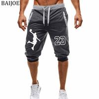 erkekler için boş pantolonlar toptan satış-Yeni yaz erkek Joggers Eğlence Erkekler Şort Patchwork baskı Joggers Kısa Sweatpants Pantolon Erkek Bermuda Şort