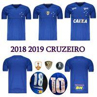 Wholesale brazilian blue - 2018 2019 CRUZEIRO soccer jersey 18 19 DE ARRASCAETA FRED ROBINHO THIAGO NEVES football shirt Cruzeiro home Brazilian club Camisas