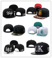 marca dd venda por atacado-Wholesale Último reis de couro snapback chapéus branco lastking lk designer marca mens mulheres bonés de beisebol hip-hop tampas de rua frete grátis dd
