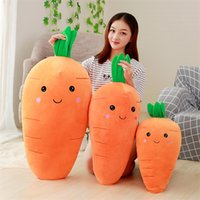 Wholesale gifts for girls pillows for sale - Group buy Cretive Simulation Carrot Plush Toy Eiderdown Cotton Office Nap Stuffed Pillow Super Soft Cute Doll Gift For Girl dy YY