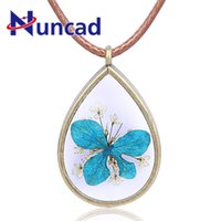 модные аксессуары для цветов оптовых-Handmade Natural Blue Flowers Long Necklaces & Pendants For Women 2018 New Style Fashion Jewelry Accessories Wholesale