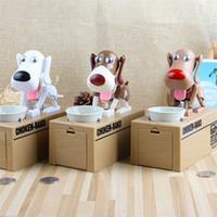 hundespeicherung großhandel-Reizende elektrische einsparende Geld-Kasten-automatische Hundestall-Münzen-Piggy Querneigung für Kinderneuheits-Geschenke multi Farbe 21mh C R