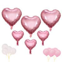 doğum günü afişleri ücretsiz gönderim toptan satış-Mutlu Doğum Günü Balonlar Banner Kalp şeklinde Karikatür Mutlu Aile El Hava Pompası Toptan Ücretsiz Kargo Olay Malzemeleri