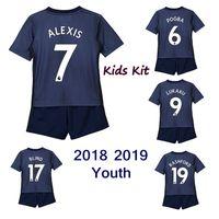 Wholesale mini uniform - 2018 2019 kids kit POGBA ALEXIS RASHFORD boys uniforms MARTIAL LUKAKU Lingard Blind children mini kit 18 19 youth set