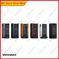 cigarrillo vape rx al por mayor-Wismec Reuleaux Rx Gen3 Dual 18650 Box Mod 230W Salida máxima 2A Descargador 100% original Cigarrillo Vape Mod