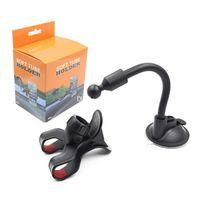 gps inch mount für auto großhandel-Auto-Telefon-Halter, flexibler 360 Grad-justierbarer Auto-Berg-Handy-Halter für Smartphone 3.5-6 Zoll Unterstützung GPS