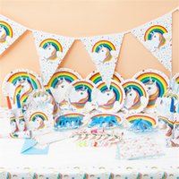 Wholesale holiday party themes - Party Arrangement Suit Rainbow Theme Holiday Prop Hand Made Children Birthday Supplies 16 Items Free Shipping 36 8kk V