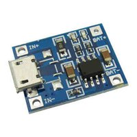 Wholesale lithium charge board resale online - V A Micro USB Lithium Battery TP4056 Charger Charging Board Module Protection Dual Function