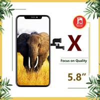 reemplazo libre del iphone al por mayor-Para iPhone X Pantalla OLED perfectamente Pantalla táctil digitalizadora Reemplazo de ensamblaje completo 5.8 pulgadas LCD libre de DHL