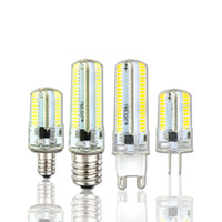 Wholesale g4 led cree - Led Light G9 G4 Led Bulb E11 E12 Dimmable Lamps 110V 220V Spotlight Bulbs 3014SMD 64 152 Leds light Sillcone Body for chandelier