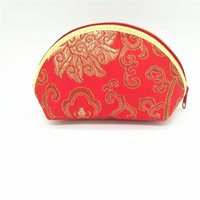 Discount chinese clutch bags - 2018 new women's Chinese wallet monederos candy bag clutch unicorn coin pursecoin purse red embroidered clutch wallet LQ026