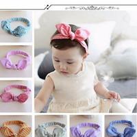 ingrosso migliori regali avvolge-Baby Kids Girls Accessori Bowknot Hairband Flower Toddler Lovely Fascia Turbante Knot per la testa ragazza avvolge il migliore regalo