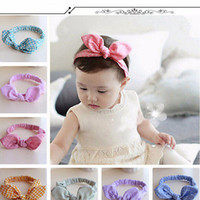 Wholesale head wrap toddler - Baby Kids Girls Accessories Bowknot Hairband Flower Toddler Lovely Headband Turban Knot For Girl Head Wraps Best Gift