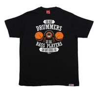 ingrosso basso rock-BM God Drummers Bass Heroes Too T-SHIRT Drum Rock Band Divertente regalo di compleanno