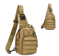 Wholesale outdoor riding backpack bicycle resale online - Outdoor camping Tactical Backpack Chest Bag Shoulder Bags Single Shoulder Bag Outdoor Sports Motorcycle Ride Bicycle Bag packs