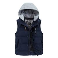 Wholesale male jobs - JOOBOX 3XL Cotton Vest Men's Jacket Sleeveless Casual Waistcoat Men's Jean Coat Ripped Slim Fit Male Jacket Cowboy JOB-EB605
