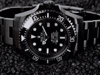 автоматический ободок оптовых-AAA черный часы человек часы 40 мм из нержавеющей стали роскошные безель часы Оптовая авто дата мужчины платье часы горячие продажи мужские часы подарок Reloj