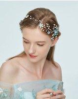ingrosso set di perle fatti a mano-Coriandoli in oro intrecciati a mano in lega intrecciata a fiore semplice con ornamenti per capelli da sposa