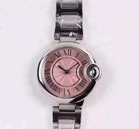 saphirglas quarzuhr groihandel-Luxusuhren CTBrand 052501 rosa Frauen Schweizer Quarzuhr Saphirglas Spiegel Nut Krone Durchmesser 28mm \ 33mm Marke Uhren.