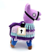 Wholesale toys plains online - 20cm cm Fortnite Troll Stash Llama Figure Doll Soft Stuffed Animal plush toys Fortnite Stash Llama Plush sofa Toy cartoon Stuffed doll