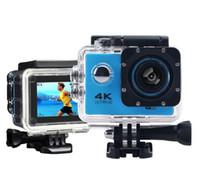 cámara de movimiento al por mayor-4K Sports Camera suministro impermeable WIFI movimiento DV Sports Action Video Cameras Varios colores disponibles