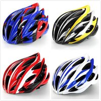 eps sport casco al por mayor-Nueva 230g Aero Road Bicycle Helmet Goggles Racing Ciclismo Bicicleta Deportes Casco de seguridad en el molde Road Bike Ciclismo Gafas