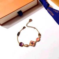 pulsera de encanto 17cm al por mayor-La pulsera de diseño de paris de material de latón de lujo con jade natural y cristal decoran una pulsera única de 17 cm pulsera de monograma para mujeres