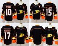 Wholesale Hockey Jersey Kesler - 2018 Anaheim Ducks Hockey Jerseys 17 Ryan Kesler 10 Corey Perry 15 Ryan Getzlaf Black Jerseys Blank No Name Number