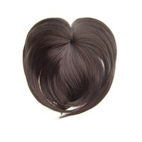 Wholesale synthetic bangs resale online - Soloowigs Natural Straight Synthetic Hairpieces High Temperature Fiber Colors Women Clip in Middle Parting Bangs