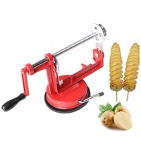 Wholesale hand slicer kitchen for sale - Group buy Stocked Eco Friendly Pc Rotate Potato Machine Stainless Steel Sweet Potatoes Twisted Tornado Slicer Kitchen Hand Rotate Spiral Tool FDA