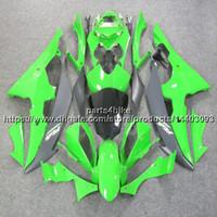 yamaha r6 kaplama 11 toptan satış-23 renkler + 5 Çiftler ABS yeşil Fairing Yamaha YZFR6 2008-2016 YZF R6 08 09 10 11 12 13 14 15 16 karoser motosiklet Plastik Kiti