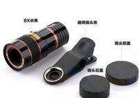 сотовые телефоны зум-камеры оптовых-Объектив телескопа 8x Zoom Универсальная оптическая камера Телеобъектив с клипсой для Iphone Samsung HTC Sony LG мобильный смартфон