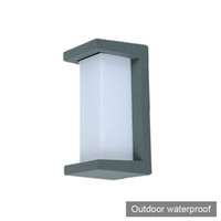 Wholesale modern lighting uk for sale - IP55 Europe villa LED wall light lamp outdoor waterproof aluminum UK modern simple style square LED sconce lamp light