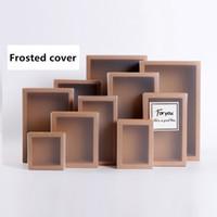 el yapımı sabun kutuları toptan satış-20 adet Buzlu PVC Kapak Kraft Kağıt Çekmece Kutuları DIY El Yapımı Sabun Craft Jewel Kutusu Düğün Parti Hediye için Ambalaj