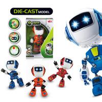 mini oyuncak robotları toptan satış-Mini Elektrikli LED Ses Akıllı Robot Alaşım Oyuncaklar Çocuklar Için Yenilik Telefonu Standı oyuncaklar Hafif Müzik Akıllı Robot Yenilik Öğeleri AAA935