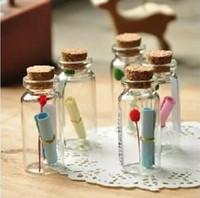 winzigen gläsern behälter groihandel-450pcs 0,5 ml Netter Mini Kleine Tiny Leer Löschen Wishing Vials mit Korken leeren Glasflaschen Gläser Container