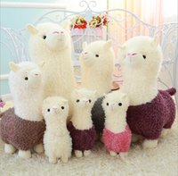 Wholesale cute japanese plush toys - 28cm Kawaii Rainbow Alpaca Plush Doll Toys Cute Llama Alpacasso Stuffed Toys Japanese Stuffed Animals Doll baby Kids Gift