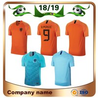 2019 Holland Home soccer jersey 18 19 Netherlands  9 V.PERSIE  7 MEMPHIS  Soccer Shirts Away blue  10 SNEIJDER  11 ROBBEN Football uniform 1456170a4