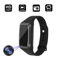 cámaras de vigilancia android al por mayor-Smart Bracelet Hidden Camera 1080P HD Mini cámara de video con Track Steps grabadora de vigilancia videocámara para iPhone Android